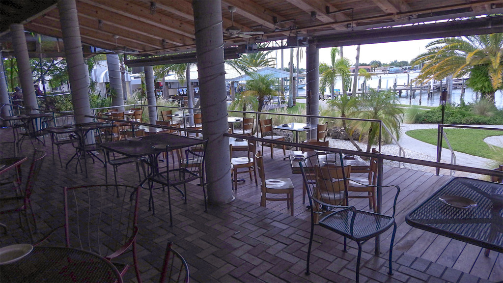 waterfront restaurant apollo beach fl outside dining area view